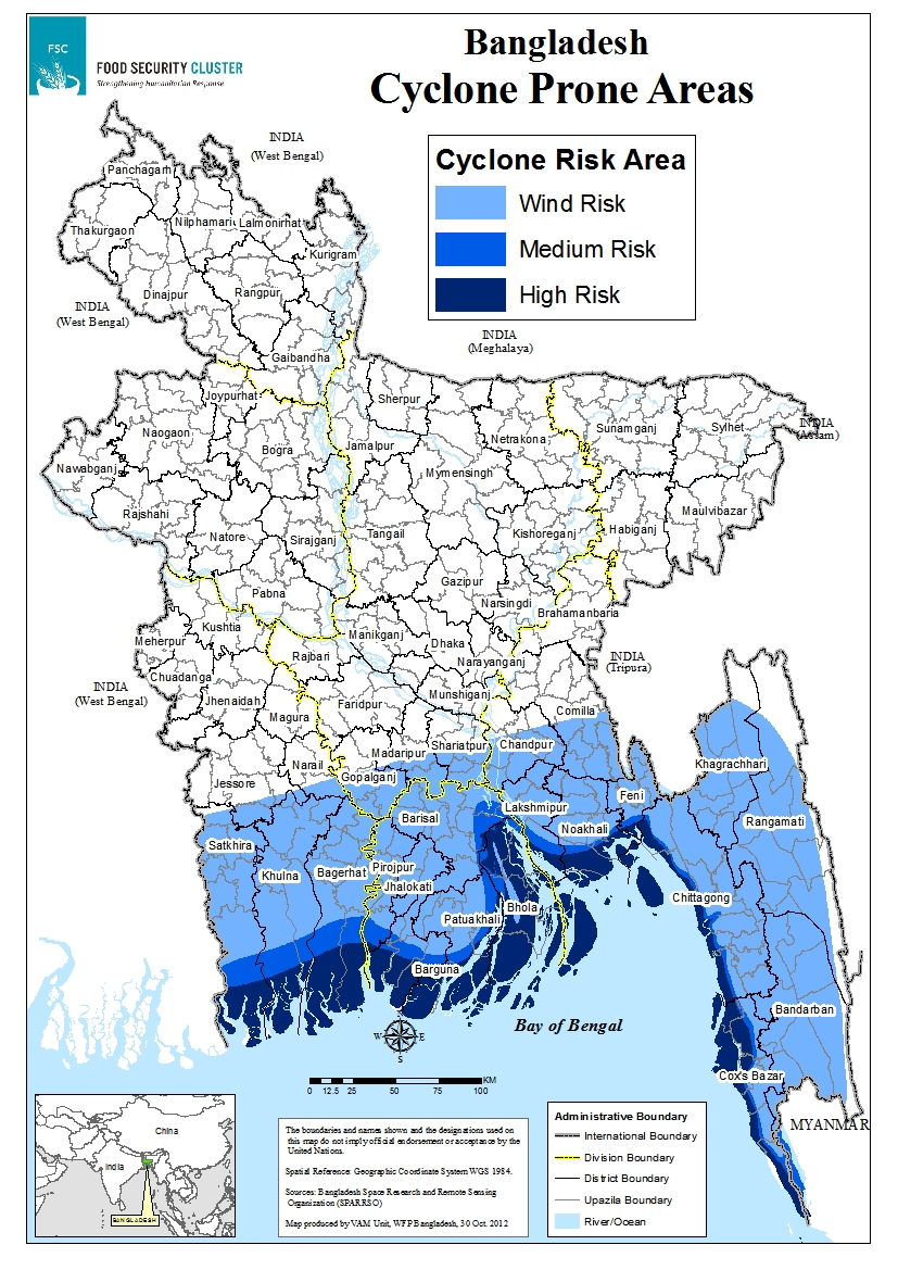 fsc contingency planning map of cyclone prone areas food