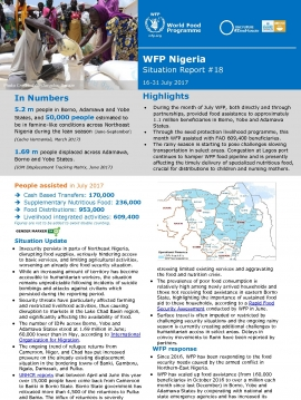 WFP Nigeria Situation Report #18