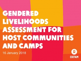 Gendered Livelihoods assessment for host communities and camps, FSS