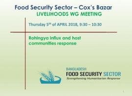 Livelihoods Working Group Meeting - FSS Coordinator's Presentation