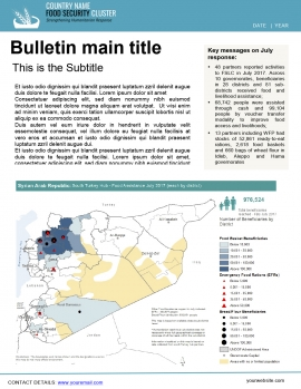 bulletin template food security cluster