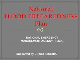 national flood preparedness plan presentation national emergency