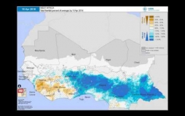 WFP VAM - Seasonal Monitor: West Africa | Cumulative Rainfall (% of Average)